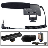 Sennheiser Sound & Light Kit with MKE400 Microphone and Bescor Light for Camcorders