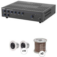 Atlas Sound Basic Single-Zone, 70V Ceiling Sound System for up to 3,500 sq ft.
