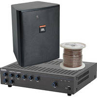 JBL Basic Single-Zone, 70V Wall Mount Sound System for up to 3,000 sq ft.