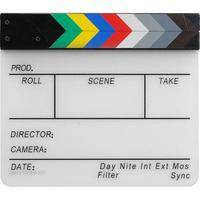 "Pearstone Acrylic Dry Erase Clapboard with Color Sticks (9.75x11"")"
