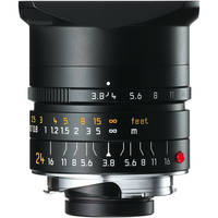 Leica Wide Angle 24mm f/3.8 Elmar M Aspherical Manual Focus Lens - Black