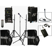 AmpliVox Sound Systems B9154-LC Platinum Digital Audio Travel Partner Package