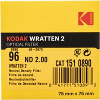 "Kodak 3 x 3"" Neutral Density (ND) #96 2.0 Optical Gelatin Wratten 2 Filter"