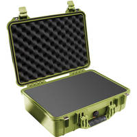 Pelican 1500 Case with Foam (Olive Drab Green)