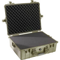 Pelican 1600 Case with Foam (Olive Drab Green)