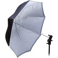 "Interfit INT393  Translucent/Silver/Black Backing Umbrella - 33"" (84 cm)"
