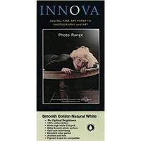 "Innova Photo Art Smooth Cotton Natural White Paper 315 gsm 17"" x 48.75' Roll"
