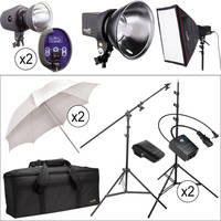 Impact Three Light Portrait Boom Kit (120VAC)