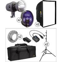 Impact VS-LCD 2 400W/s Digital Monolight Softbox Kit