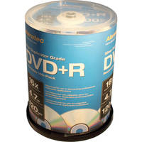 Aleratec DVD+R Silver 4.7GB 16x Recordable Disc (Spindle Pack of 100)