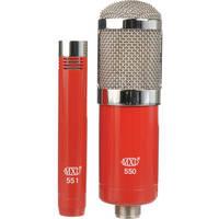MXL 550/551 Condenser Ensemble Microphone Kit (Red)
