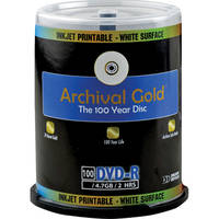 Delkin Devices Archival Gold DVD-R 4.7GB, 8x,  Disc (Spindle Pack of 100)