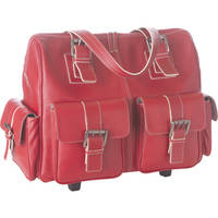 Jill-E Designs Large Rolling Camera Bag (Red)
