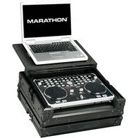 Marathon MA-VCILTBLK Flight Road Music Controller Case w/ Laptop Shelf (Black)