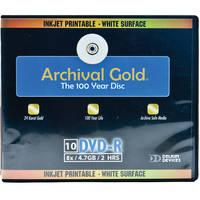 Delkin Devices Archival Gold Inkjet DVD-R 10 Pack Wallet