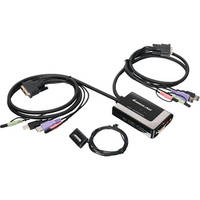 IOGEAR 2-Port DVI-D KVM Switch with Audio and Mic