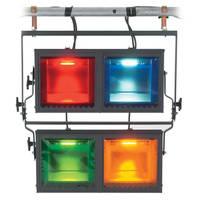 Strand Lighting Aurora 4-Way Square Cyc Light--Pole Operated (120VAC)