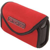 OP/TECH USA Snappeez Soft Pouch, Medium Wide Body Horizontal (Red)