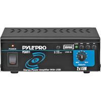Pyle Pro PCAU11 Mini 15 Watt x 2 Stereo Power Amplifier w/ USB Input