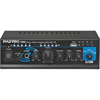 Pyle Pro PTAU45 Mini 120 Watt x 2 Stereo Power Amplifier w/ USB/CD/Aux Inputs