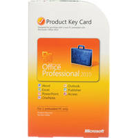 Microsoft Office Professional 2010 Software (Product Key Card)
