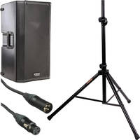 "QSC K12 12"" 2-Way 1000 Watt Powered Speaker Kit with Stand"
