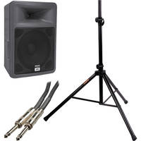 "Peavey PR15 15"" 2-Way Portable PA Speaker Kit with Stand"