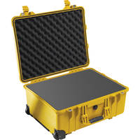 Pelican 1560 Case with Foam (Yellow)