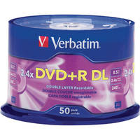 Verbatim DVD+R Double Layer, Recordable Disc (Spindle Pack of 50)