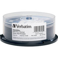 Verbatim DVD+R DL DataLifePlus Data Life White Recordable Disc (Spindle Pack of 20)