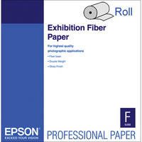 "Epson Exhibition Fiber Photo Inkjet Paper (17"" x 50' Roll)"