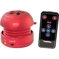 Pyle Home Bass Expanding Mini Speaker with Built-In USB and SD Card Reader (Red)