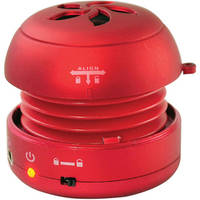 Pyle Home Bass Expanding Rechargeable Mini Speaker (Red)