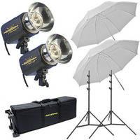 Novatron M150 2-Monolight Kit W/Wheeled Case (120VAC)