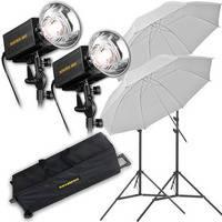 Novatron M500 2-Monolight Kit W/Wheeled Case (120VAC)