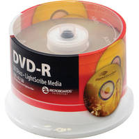 Microboards DVD-R, 4.7GB, 16x LightScribe Discs (50 Pack Spindle)