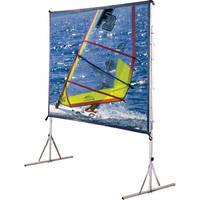 "Draper 218200LG Cinefold Folding Portable Front Screen with Anti-Sway Legs (79 x 140"")"