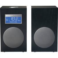 Tivoli Model 10 AM/FM Stereo Clock Radio - Contemporary Collection (Midnight Black / Silver)