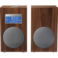 Tivoli Model 10 AM/FM Stereo Clock Radio - Contemporary Collection (Walnut / Silver)