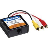 MuxLab 500048 Stereo AV/IR Pass-Thru Balun (Male)