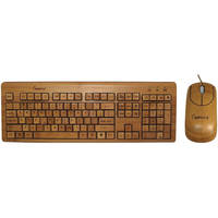 Impecca Bamboo Custom Carved Designer Keyboard and Mouse
