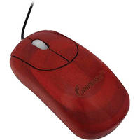 Impecca Custom Carved Designer Bamboo Mouse (Cherry)