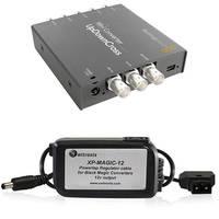 Blackmagic Design Mini Converter UpDownCross w/ Switronix Powertap Converter Cable Kit