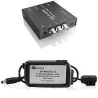 Blackmagic Design Mini Converter Audio to SDI w/ Switronix Powertap Converter Cable