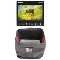 "Marshall Electronics 5"" HDMI On-Camera Monitor w/ Porta Brace MO-LCD50-HDMI Case"