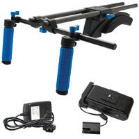 Redrock Micro microShoulderMount Deluxe Bundle w/ Battery & Charger Kit for Canon 5D/7D