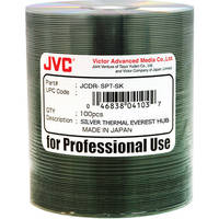 JVC JCDR-SPT-SK Thermal Lacquer Blank CDR Media Discs (Silver)