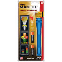 Maglite Mini Maglite 2AA LED Flashlight with Holster (Blue, Clamshell)