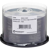 Microboards MEDD-10003 DVD+R Dual-Layer Media (50-disc Spindle)