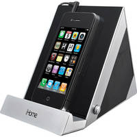 iHome iDM3 Sleek Stereo Speaker System for iPad, iPhone & iPod (Black and Silver)